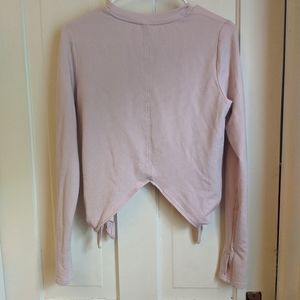 Athleta side tie sweatshirt, light pink, like new
